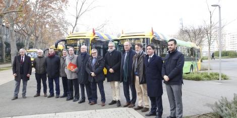 Lleida estrena 10 nuevos autobuses, de los cuales 8 son híbridos