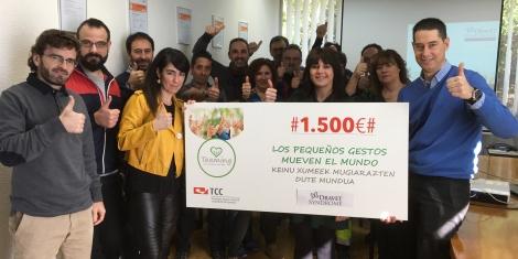 El Teaming de TCC Pamplona destina 1.500 euros a la Fundación Síndrome de Dravet