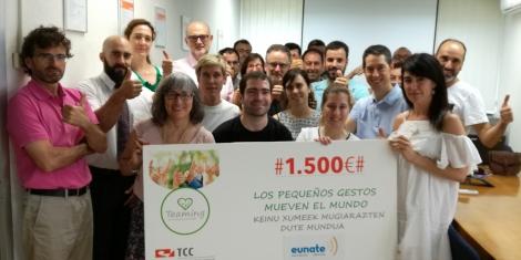 El Teaming de TCC Pamplona destina 1.500 euros a la Asociación Eunate Elkartea