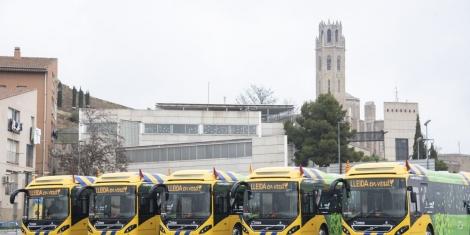 Cinco nuevos autobuses híbridos para Lleida
