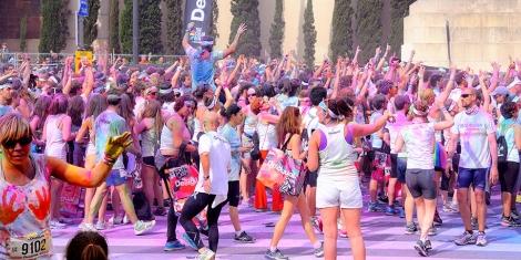 La carrera Color Run de Barcelona