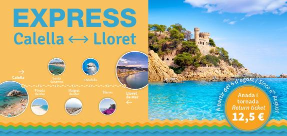 Nuevo servicio exprés entre Calella i Lloret de Mar